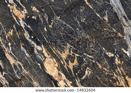 Patterns in a rock surface