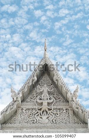 Patterns of fine stucco church - stock photo