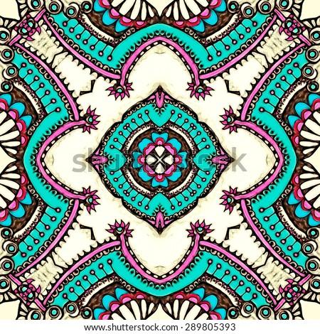 Patterns of India, scarf, digital art