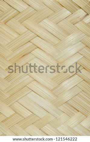 Patterns of weave bamboo