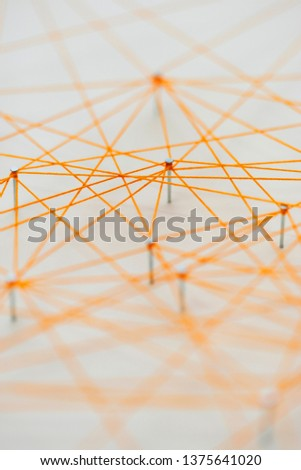 Patterns that are connected by strings. #1375641020