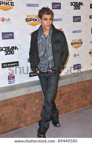 Paul Wesley at Spike TV's 2010 Scream Awards at the Greek Theatre, Griffith Park, Los Angeles. October 16, 2010  Los Angeles, CA Picture: Paul Smith / Featureflash