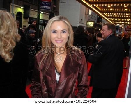 Paula LaBaredas attending a performance 'Rock of Ages'. Atkinson Theatre, New York, NY. 05-21-09
