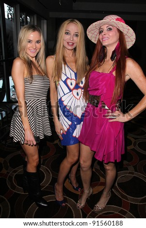 Paula Labaredas, Lorielle New and Phoebe Price at the L.A. Fashion Industry Makes A Difference for Israel runway fashion show, Century Plaza Hotel, Century City, CA. 05-12-11