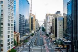 Paulista near Consolação, two major avenues in São Paulo, SP, Brazil