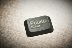 Pause button. Break button. Pause / break button. Where is the Break Key in real life?? Coffee Break in the office. If life had a Pause Button
