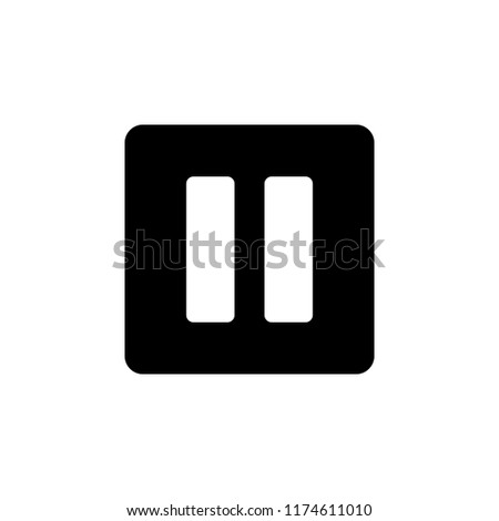 pause button glyph icon. Simple illustration for UI and UX, website or mobile application on white background