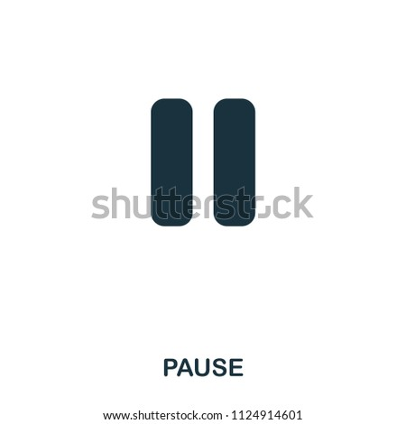 Pause icon. Line style icon design. UI. Illustration of pause icon. Pictogram isolated on white. Ready to use in web design, apps, software, print