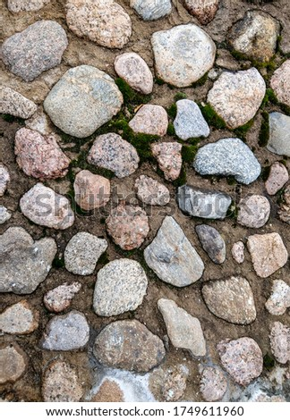 Paved stones top view background