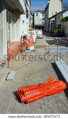 pavement repair: installation of pavement in the street