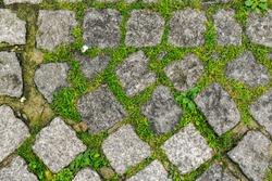 Pavement texture in Ostend, Belgium