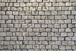 Paving blocks made of small tiles of regular shape