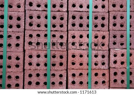 Paving bricks delivered to site.