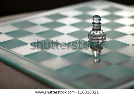 Pawn chess piece - business concept  series - small business, strategy, growth, competition, promotion, survive - space for text - business card.