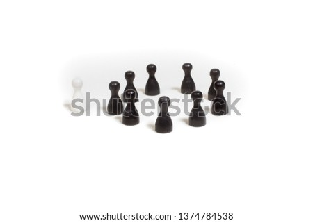 pawns grouped in relation to eachother