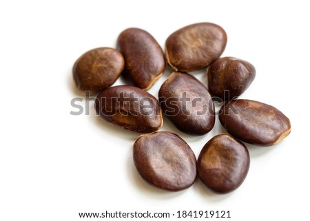 pawpaw seeds, on a white background Stock photo ©