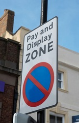 pay and display parking zone