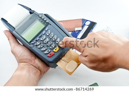 Pay money credit card for spending money with Payment machine