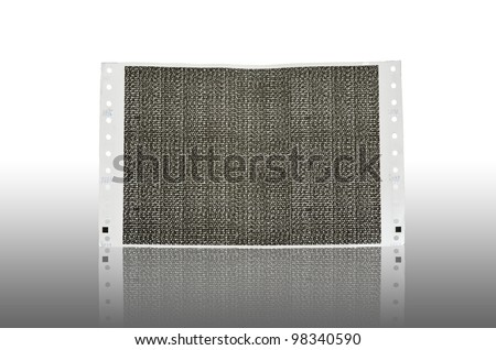 Pay slip paper reflection. Salary Slip paper. Carbon paper