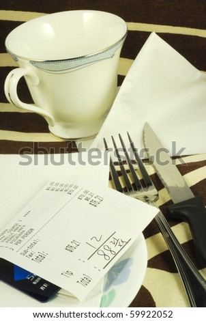 Pay the dinner bill in a restaurant