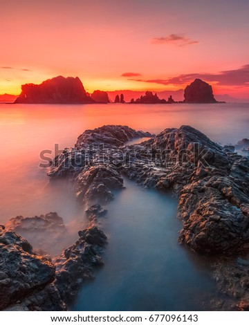 Payangan Beach, Jember. Indonesia. #677096143