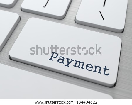 Payment  Concept. Button on Modern Computer Keyboard with Word Partners on It.