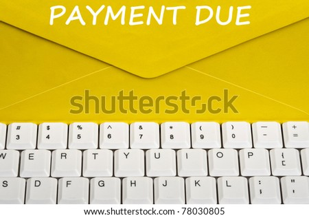 Payment due message on envelope