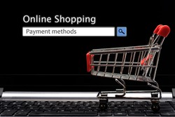 Payment methods, online shopping / business conceptual