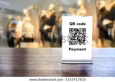 Payment QR code for Moblie ,Qr code payment, E wallet , digital pay without money cashless technology to pay