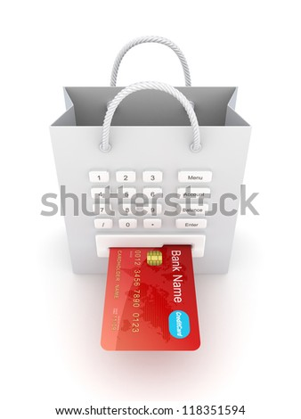 Payments concept.Isolated on white background.3d rendered.