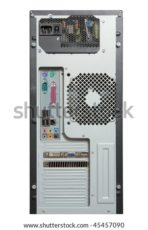 PC computer tower isolated on white background