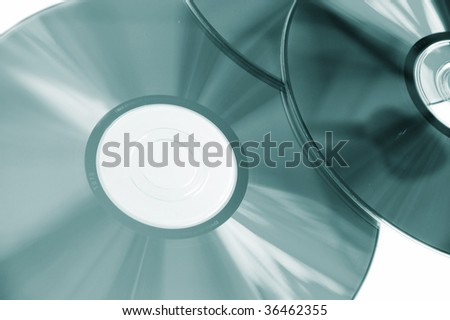 PC disc blue tones isolated on white