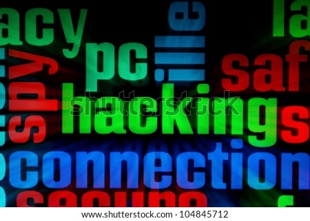 Pc hacking - stock photo