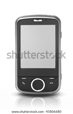 pda with touch screen isolated on white