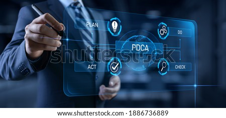 PDCA Plan Do Act Check Business technology concept. Stockfoto ©