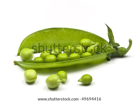 Pea Pod with Peas.
