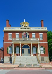 Peabody beautiful and historic Custom House from the period the city was both a busy port and industrial hub in Massachusetts