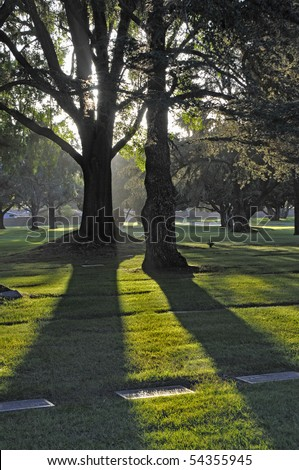 Peace and Quiet - cemetery at sunset