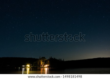 Peace and solitude on a starry night on Coles Pond #1498181498