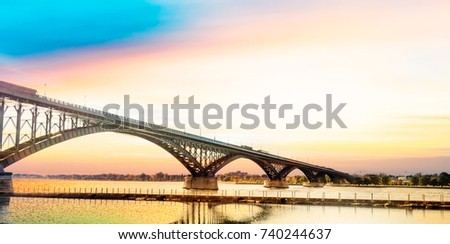Peace Bridge, Buffalo, NY.