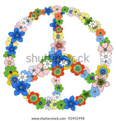 Peace floral symbol