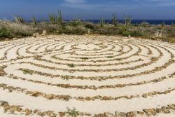 Peace Labyrinth at the Alto Vista Chapel  in Aruba.