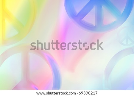 peace symbols abstract