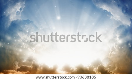 Peaceful background - sunshine from heaven.
