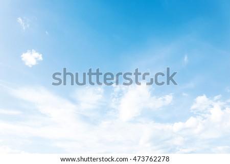 peaceful blue sky  soft gentle...