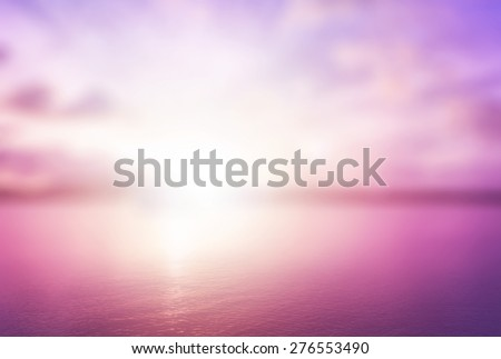 Peaceful concept: Abstract blur beautiful purple ocean with pink sky sunset background - Shutterstock ID 276553490