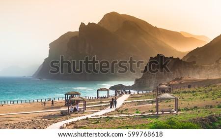 Peaceful Dusk in Oman