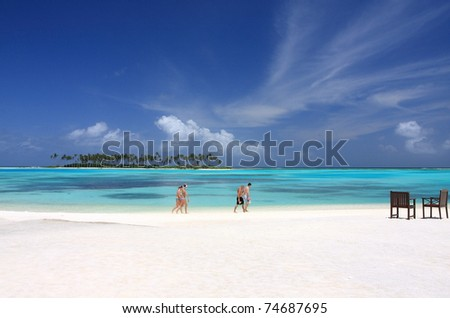 Peaceful in olhuveli, maldives, indian ocean