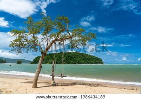 Peaceful Layan Beach in sunny day, Phuket, Thailand. Stok fotoğraf ©