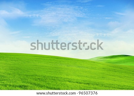Peaceful meadow in canada background shot in spring